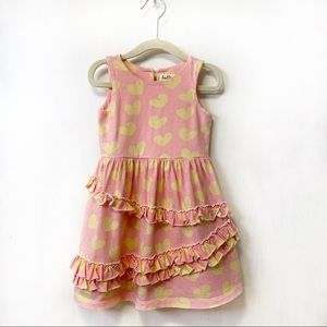 Hatley Heart Print Ruffled Playdress